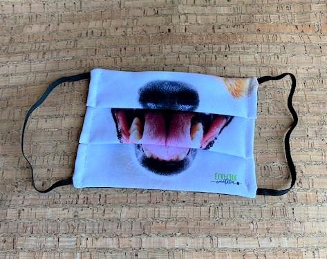 Masque collection fait moi rire – Chien Blanc